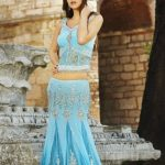 Indian Sari With Short Back Blouse Collection 2013-14 For Women (4)