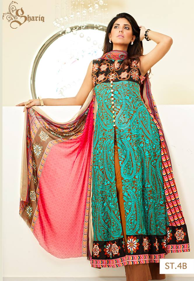 Sahil Embroidered Collection 2013 For Women By Shariq Textiles (1)