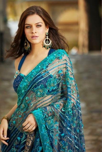 Short & Backless Blouse Sari (2)