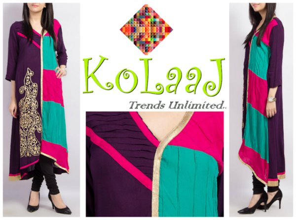 Silhoutte Collection 2013 By Kolaaj - Pakistani Dresses (2)