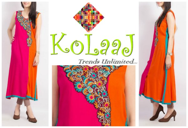 Silhoutte Collection 2013 By Kolaaj - Pakistani Dresses (3)
