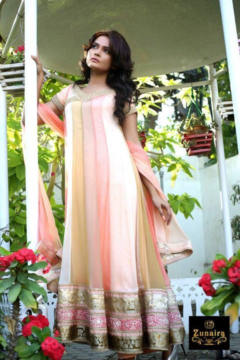 Zunaira's Lounge Latest party Wear Dresses Collection 2013-14 For Winter (4)