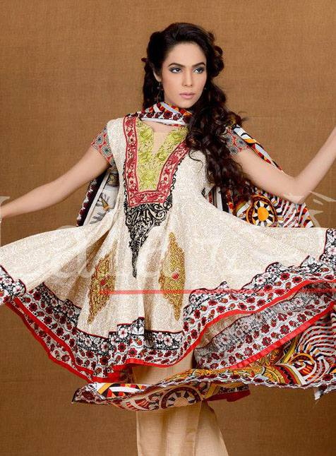 Lala Textiles Afreen Embroidered Winter Dresses 2013-14 for Ladies (2)