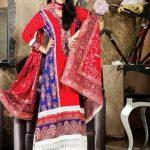 Bashir Ahmad Printed Linen Winter Dresses 2013 For Women