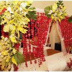 Bridal Room Decoration ideas 2013 flower and lights 001