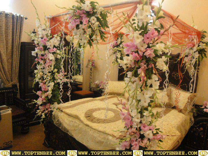 Bridal Room Decoration ideas 2013 flower and lights 004