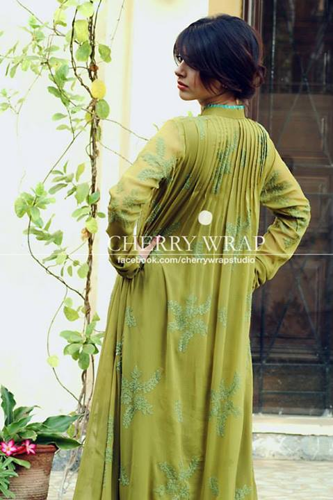 Cherry Wrap Beautiful Winter Dresses Collection 2013-14 For Women (3)