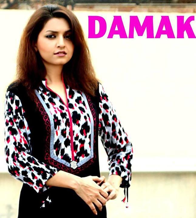 Damak Stylish Winter Dresses Collection 2013-14 For Women (2)