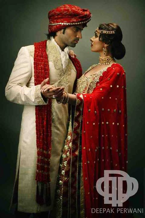 Deepak Perwani Bridal Dresses Collection 2013-14 (2)