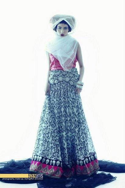 Designer Mina Hasan New Winter Party Dresses 2013 For Feminine (3)