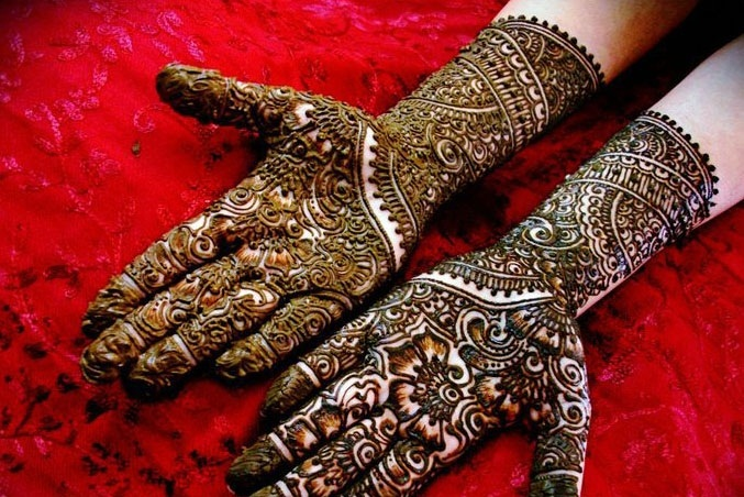 Indian and Pakistani Bridal Mehndi Designs 2014 For Parties (7)