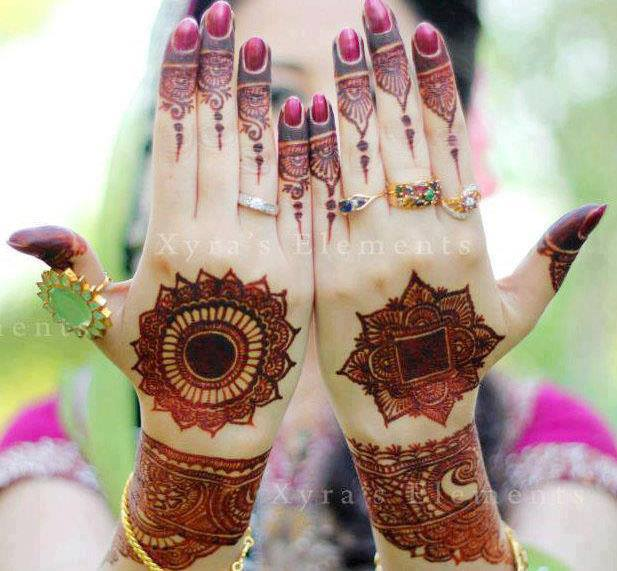 Indian and pakistani bridal mehndi designs 2014 for parties 9