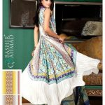 New Latest Bashir Ahmad Printed Linen Winter Outfits 2014