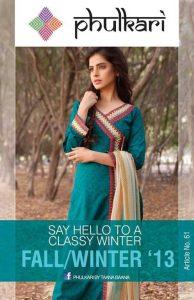 Phulkari By Taana Baana Stylish Winter Collection 2013-2014 For Ladies (5)
