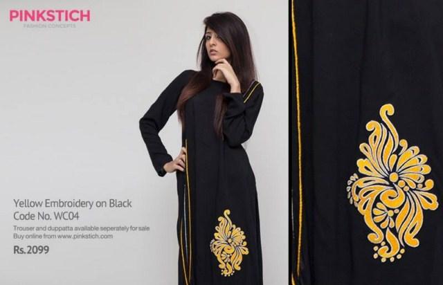 Pinkstich Pakistani Casual Wear Winter Fall Dresses 2013-14 For Women (2)