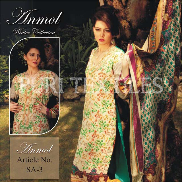 Puri Textiles Anmol Winter Collection 2013-14 For girls & Women