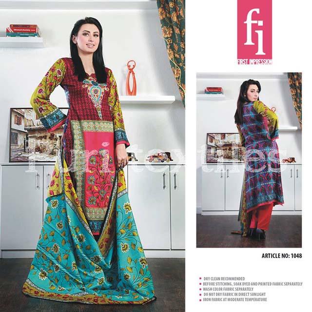 Puri Textiles Vescose Linen Winter Dress 2013-14 for Ladies (4)