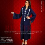 Red Tree Simple Casual Winter Kurti Dresses 2013 for Girls (1)
