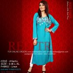 Red Tree Simple Casual Winter Kurti Dresses 2013 for Girls (4)