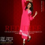 Red Tree Simple Casual Winter Kurti Dresses 2013 for Girls (5)