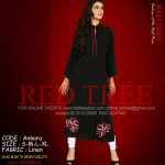 Red Tree Simple Casual Winter Kurti Dresses 2013 for Girls (6)