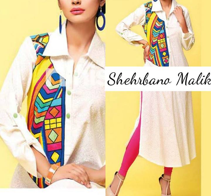 Trendy Embroidery Shirts 2013 Winter Collection by Shehrbano Malik (8)