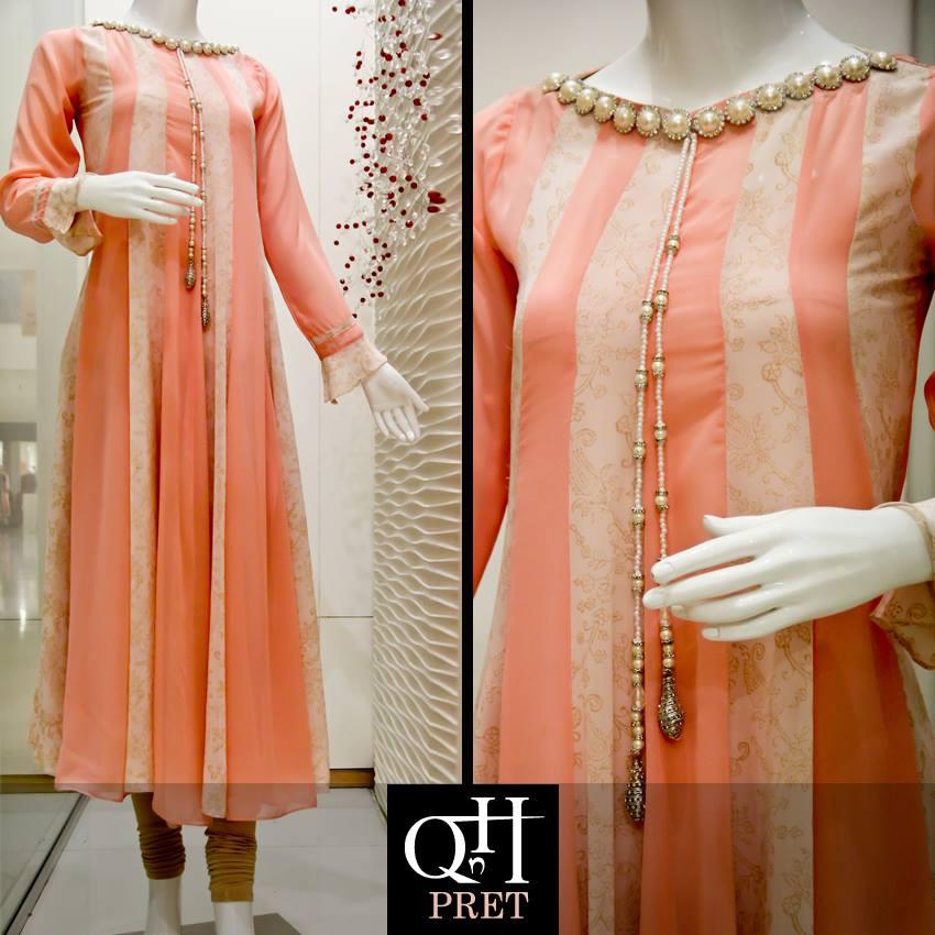 Winter Long Shirt Designs 2013 For Women & Girls By QnH