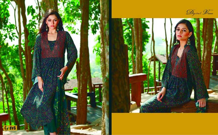 Firdous Cloth Mills New Digital Viscose Collection 2013-14 (4)