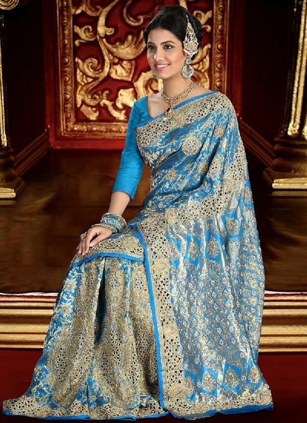 Exclusive Brocade bridal Saree collection 2014