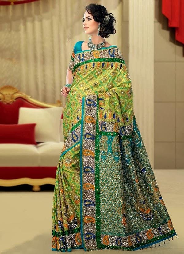 Exclusive Brocade bridal Saree collection 2014