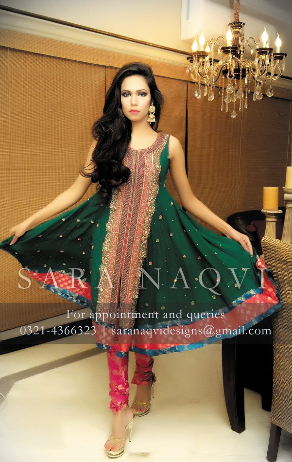 Sara Naqvi New Year Winter Dresses Collection 2014 For Women and Girls
