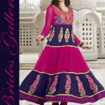 Brides Galleria Faux Chiffon Anarkali Dresses 2014 For Ladies (8)