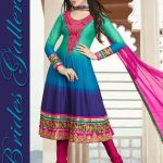 Brides Galleria Faux Chiffon Anarkali Dresses 2014 For Ladies (9)