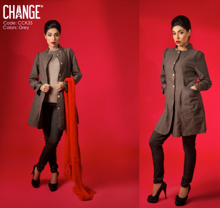 Change Winter Kurta Over Jackets Coats Collection 2014 For Ladies (3)