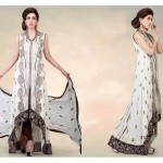 Cotton And Silk-UAE Latest Party Wear Dresses 2014 For Women (1)
