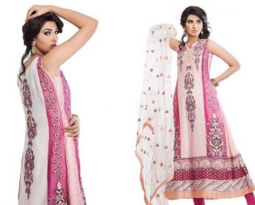 Cotton And Silk-UAE Latest Party Wear Dresses 2014 For Women (5)