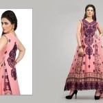 Cotton And Silk-UAE Latest Party Wear Dresses 2014 For Women (3)