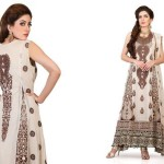 Cotton And Silk-UAE Latest Party Wear Dresses 2014 For Women (4)