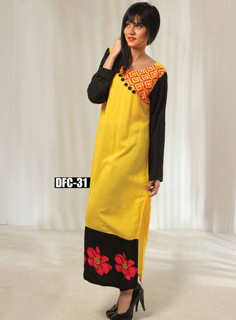 Dicha Splashes of Urban Winter Exclusive Kurti Collection 2014, Season 2 (8)
