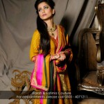 Farah and Fatima New Girls Winter Dresses 2014 For Party Wear 001