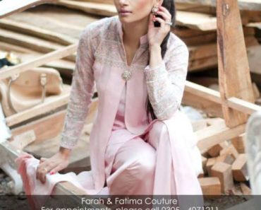 Farah and Fatima New Girls Winter Dresses 2014 For Party Wear 002