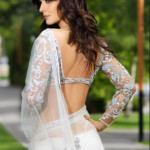Indian Short and Backless Blouse Sari 2014