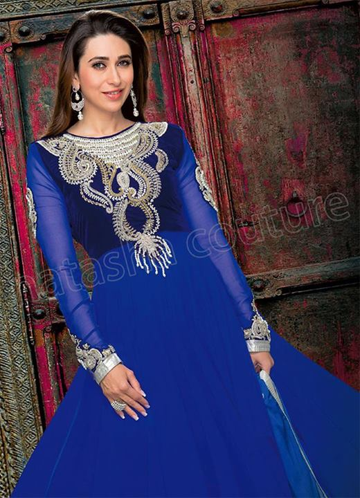 Karishma Kapoor's Stylish Anarkali Dresses 2014 by Natasha Couture