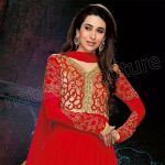 Karishma Kapoor's Stylish Outfits Semi Stitched Dresses 2014