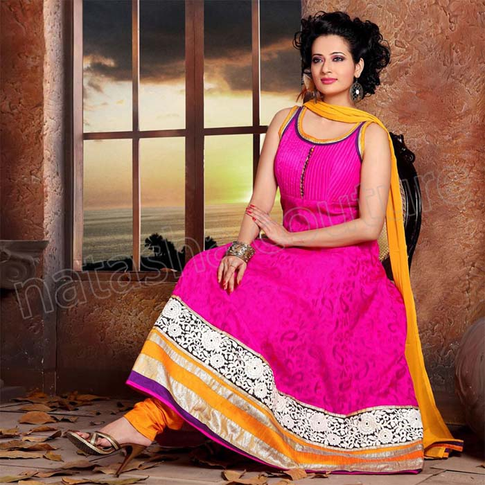 Natasha Couture Grand New Year Anarkali Dress 2014 for Girls (7)