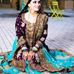 Stylish Full Sleeve Wedding Pakistani Dresses 2014 For Women (1)