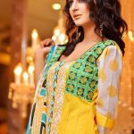 Rujhan Fabric Winter Prints Dresses Design 2014 For Women (1)