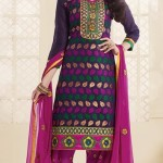 Thread Embroidered Salwar Suits Collection 2014 For Girls (1)