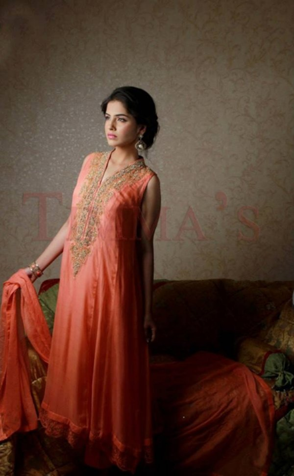 Timma's Party Wear Winter Dress Collection 2014 For Women