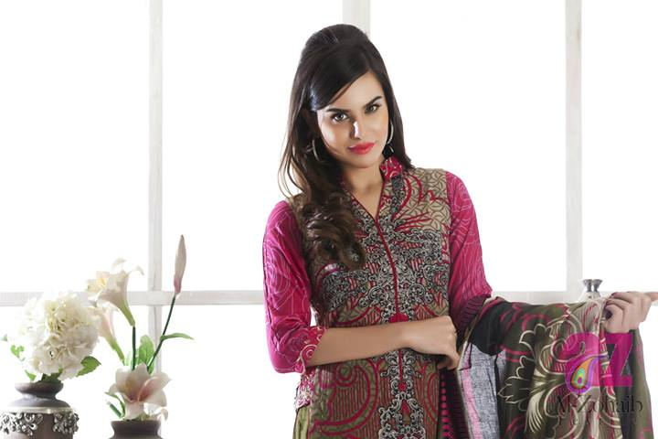 Al Zohaib Textile Anum Chiffon Lawn Collection 2014 For Women (11)